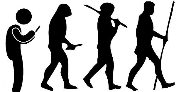 Menschliche Evolution - Rückentwicklung durch das Smartphone