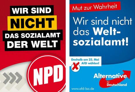 Wahlslogans, NPD und AfD identisch